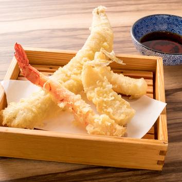 <一番人気!>旬の鮮魚のお刺身と天ぷらコース2時間飲み放題込