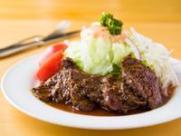 キッズにも食べられるやさしい味わい『牛肉の照焼きステーキ』