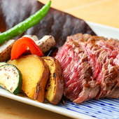 しっとりとした食感、肉本来の味を満喫できる『黒毛和牛ステーキ』