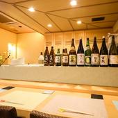 季節ごとに入れ替わる日本酒ラインナップ