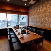友人との食事からビジネスまで活躍する個室空間