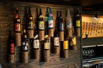 こだわりの焼酎や日本酒、ワインまで豊富なラインナップ