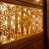 昭和初期の組子細工をリペアしたアンティーク家具