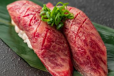 A5ランク黒毛和牛 炙り寿司-2貫-