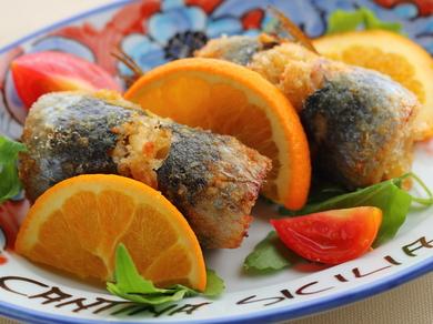 シチリアの伝統的なイワシの前菜『真イワシのベッカフィーコ(2ケ)』