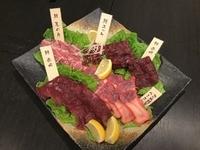 京都では取り扱いの殆ど無い鯨肉を特別ルートにて仕入まして、御提供致します。