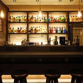 ブルックリンスタイルの大人空間で、多彩なお酒&つまみに和める