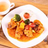 鶏のトマト煮 定食