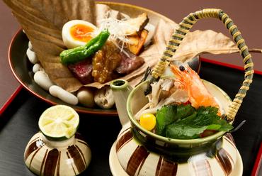 旬の食材、季節が楽しめる、おまかせ『季節会席』