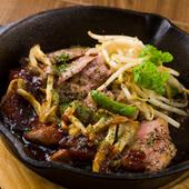 ジューシー肉とたっぷり野菜『国産豚肩ロースのスキレット鍋ステーキ』