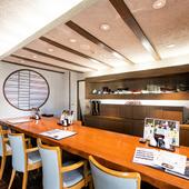 料理人が常駐している、メインのカウンター席