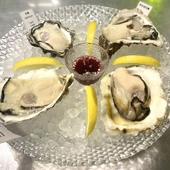 全国各地から仕入れた牡蠣をいただく『オイスタープラッター』