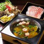 選べる鍋+前菜+デザート付!土曜・祝日限定。女性3名~