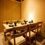 全室個室なので、プライベートな空間を守りたい接待や商談の席を設けることが出来ます。こだわりの料理とおいしいお酒も揃っているので、安心してゲストを招くことが出来ます。
