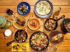 肉料理、魚料理がついたボリューム満点のコース
