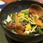 ランチでしか食べられない『美浜産直 色々野菜の発酵サラダ』