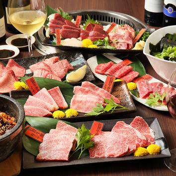 【6,000円】佐賀牛4種 ステーキ馬肉焼肉コース飲み放題120分付き