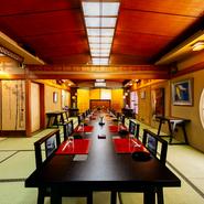 堺でも有数の歴史ある建物で、和の趣あふれる個室でいただく懐石料理。着物のスタッフによる心を込めた接客、贅をつくした料理など、日本の魅力を体験できると国内外のゲストに喜ばれています。