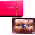 フランスのマカロンをベースに、イタリアのアマレッティを現代的な感性で再構築したオリジナルの菓子です。 プレゼントとしてもお喜びいただいております。  化粧箱 別売り¥390