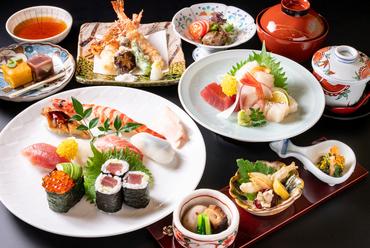 上寿司一人前がしっかりと堪能できる、大満足な寿司会席コース『宴』