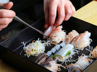 旬を華やかに味わう。数量限定『鮮魚のお造り宝石箱』