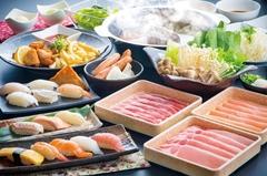 いよの舞のお寿司・天婦羅をリーズナブルに楽しめるコース。