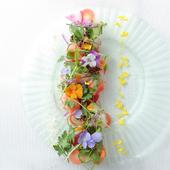 まるでお花畑のような前菜『鮮魚のカルパッチョ 庭園仕立て』