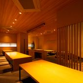 接待や宴会に。ゆったりとした空間と粋を集めた料理が自慢