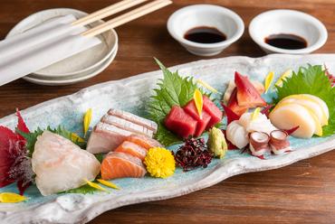 その時期最も脂の乗った、上質な鮮魚を堪能『お造り盛り合わせ』