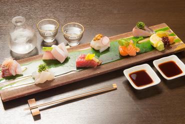 九州近海水揚げされた地魚をメインにした『鮮魚の盛り合わせ』