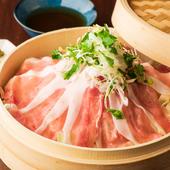能登豚とたっぷりの野菜を特製の出汁で召し上がれ『能登豚とたっぷり野菜の蒸し鍋』