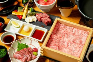 鹿児島が誇る「黒牛」を、さまざまな調理法で『鹿児島黒牛コース』