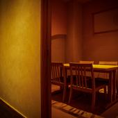 4名から最大25名まで収容できる個室を6室完備