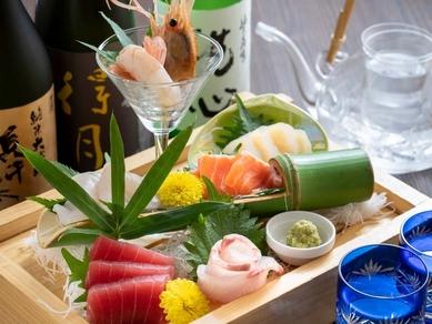 地元で獲れた新鮮な旬魚をたっぷり楽しめる『お刺身6点盛り』