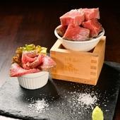 日本酒と一緒に楽しみたい『酒粕と味噌漬け 自家製ローストビーフ』