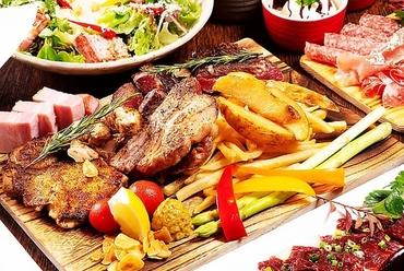 肉づくし『特製メガ盛り肉プレート付き! 肉バルコース』