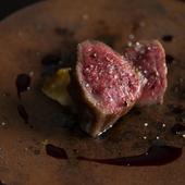 宮古島でしかお目にかかれない、希少な黒毛和牛のミスジを使った『宮古牛のステーキ』
