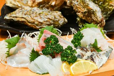 鮮度抜群の魚介ならではのおいしさ『お刺身』