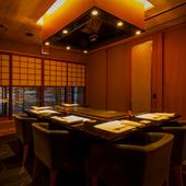 専属のシェフが目の前で調理する贅沢なプライベート個室