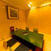 掘りごたつの個室席はプライベートな会食に最適
