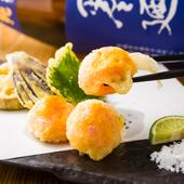 とろける味わいがたまらない!卵黄のみでつくる『竹鶏卵の半熟天ぷら』