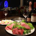 深みのある重厚な赤ワインと国産黒毛和牛のマリアージュは唯一無二の味わいです。晴れの日にはちょっと贅沢して『オーパスワン』と共に宮崎牛の希少部位を堪能してみては。