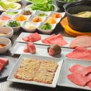 提供されるのは、最高級の牛肉と言われるA5ランクの和牛。赤身肉を中心に店主が厳選しています。産地は問わず、その日一番良いものから選ばれたおいしい肉を賞味あれ。