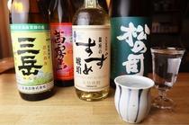 その時々で、和食と相性の良い日本酒・焼酎がラインナップ