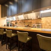 旬の食材を生かした料理を、ゆったりとした空間で満喫
