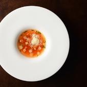 契約農家直送の無農薬夏野菜とパンチェッタのトマト風味コンソメスープ