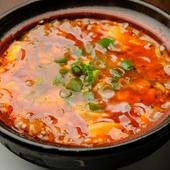 コクと深みのあるトウチを使用した最後までアツアツの土鍋入り『麻婆豆腐』