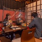 接待や同僚との外せない食事会は飛沫対策万全の席で