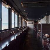どの席からも長崎の美しい海が望めるオーシャンビュー