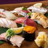 新鮮なネタでボリュームもあり食べ応えがある『寿司』